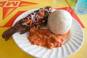 Banku and Tilapia